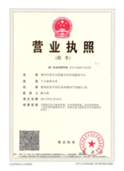 最新三证合一营业执照副本 001